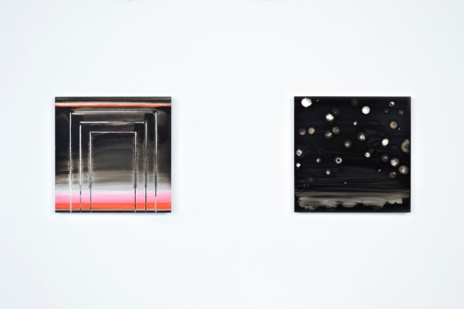 Here (pink/red), 2014 / Night, 2012