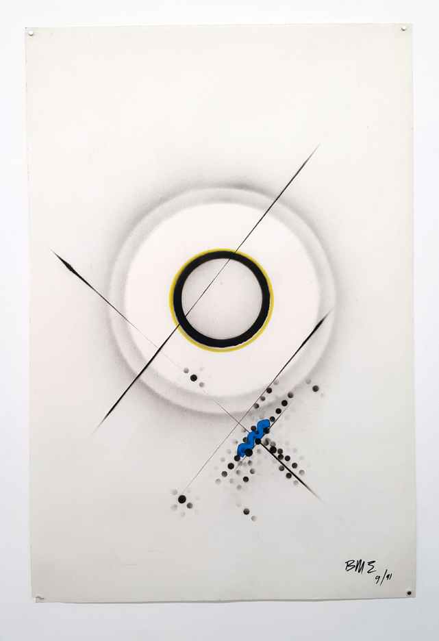 Ben Morea, 9/91, 1991, Spray paint on paper, 36 x 24 inches